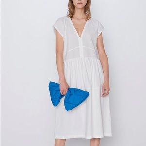 Zara Cotton Dress bloggers favorite white S